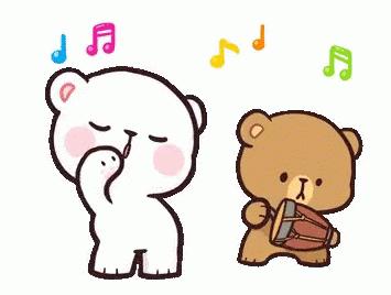 ositos enamorados haciendo musica